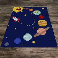Beautiful graph design that can be made using SC, HDC, DC, TSS, or Bobble Stitch and more. C2c Crochet Blanket, Crochet Blanket Patterns, Crochet For Kids, Crochet Baby, Manta Animal, Space Blanket, Corner To Corner Crochet, Bobble Stitch, Half Double Crochet