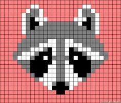 Racoon perler bead pattern, moliie makes waschbar stulpen/mittens Perler Patterns, Loom Patterns, Beading Patterns, Beaded Cross Stitch, Cross Stitch Embroidery, Cross Stitch Patterns, Knitting Charts, Knitting Patterns, Crochet Patterns