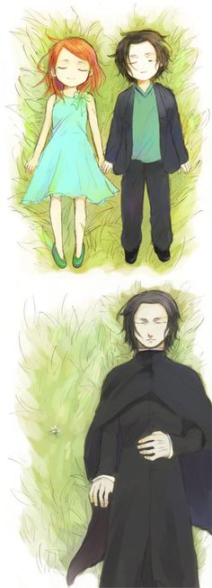 Snape & Lily  See, I've never seen or read Harry Potter, but I'm digging these renditions.  @Stephen Baldry