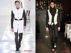 Tendencias hombre otoño/invierno 13/14 color blanco y negro: Dior Homme y Moschino.