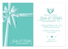 Tiffany Engagement party invites... so adorable!