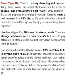 AB personality type