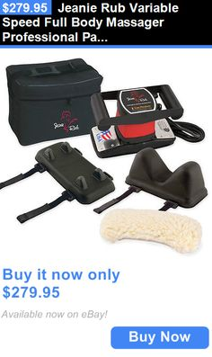 Massagers: Jeanie Rub Variable Speed Full Body Massager Professional Package W/ Accessories BUY IT NOW ONLY: $279.95