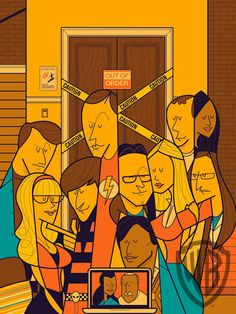 """'The Big Bang Theory' In Pictures - The Big Bang Geometry, by Ale Giorgini, silkscreen, 40""""H x 30""""W"""