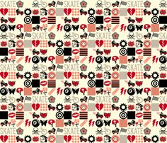Roller Derby fabric by pennycandy on Spoonflower - custom fabric