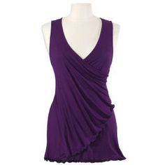 Plum Crossover Top - New Age, Spiritual Gifts, Yoga, Wicca, Gothic, Reiki, Celtic, Crystal, Tarot at Pyramid Collection