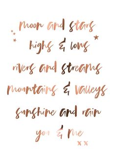 Quotes // Copper foil // You and me // love quotes // inspirational quotes // copper print // copper art // custom copper print // poster Zitate / / Kupfer-Folie / / du und ich / / Liebe Zitate / / Rain Quotes, Love Me Quotes, Lyric Quotes, Cute Quotes, Quote Of The Day, You And Me Quotes, Rose Gold Quotes, Face Angles, Love Moon