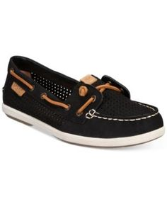 Sperry Women's Coil Ivy Boat Shoes - Black 6.5M