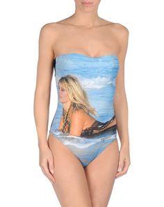 Bañador  de mujer color azul claro de Brigitte bardot tejido sintético, tejido elástico, logotipo, estampado multicolor, cierre con corchetes, interior forrado #bañador #swimsuit #monokini #maillot #onepiece #bathingsuit