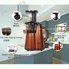 (151.20$)  Buy here  - Low Speed Slow Grinding Juicer Juice Machine Electric Household Korean Fried Broken Baby Fruit Juice Machine