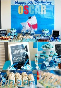 Boys Birthday Party Ideas - Shark Theme. Love the Jawesome