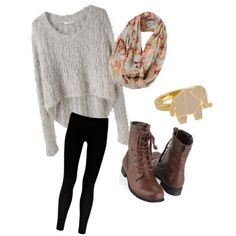 loving the combat boots & scarf