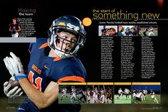The Colophon | Design like a diva: mix and match your layouts Football Team, Football Helmets, Yearbook Design, School Portraits, Student Life, Photo Look, Mix N Match, Dream Team, Breakup