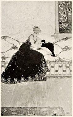 Léon-Victor Solon (American, b. England, 1872-1957). The Black Cat. c1899.