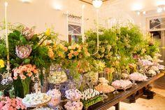 Lush flower arrangements in a beautiful vintage wedding. #vintagewedding