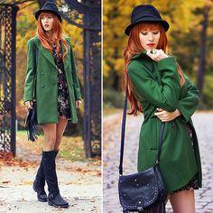 Green & Red BY MERI WILD ♥. on lookbook.nu  Zara Coat