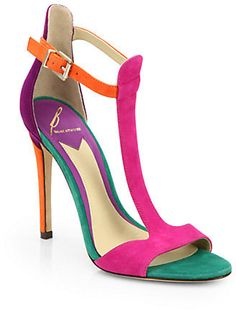 Brian Atwood Leigha T-Strap Sandals on shopstyle.co.uk