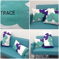 tracetextile.com Throw Pillows, Bed, Prints, Toss Pillows, Cushions, Stream Bed, Decorative Pillows, Beds, Decor Pillows