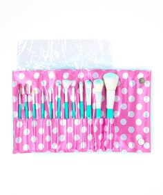 Crown Brush Vintage 12-Piece Brush Set #makeup #brushes