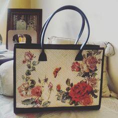 Handbag Decoupage Pandan handwoven 63b10784b0