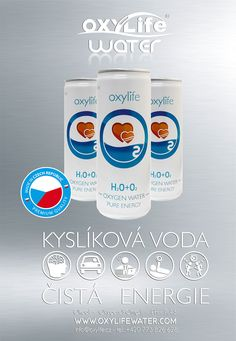 Kyslikova voda Oxylife water. Oxygen water for your body and mind. Oxygen for your healthy life. Kyslik pro vas zdravy zivot