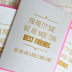 Best Friend Card - Really Small Gang