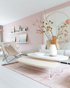This space is definitely pretty in pink!  If you're not ready to make the investment in a pink couch then something a little less pricey is to paint one wall in your space your favourite shade of pink. Add a pink rug in the same shade and your space will be transformed!  via @thedesignwalker . . . #MilrayPark #MilrayParkDesigner #eDecorating #OnlineInteriorDesign #OnlineDesign #InteriorDesigner #InteriorDesign #InteriorDecoration #Interior #Designer #Design #HomeDecor #DreamHome…