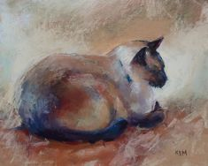 Image result for pastel painting cat