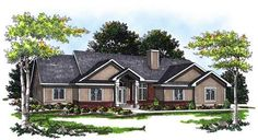 This inviting ranch style home with traditional design influences has over 1850 sq ft of living space. The one story floor plan includes 3 bedrooms.