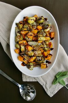 Roasted Fall Vegetables with Sage, Parmesan, and Balsamic Reduction