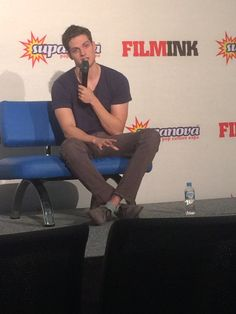 """Daniel Sharman - Supanova 2016 - When Daniel got asked if he had any upcoming projects he smiled, laughed and said """"I have a few I can't talk about"""" (TEEN WOLF! PLEASE BE TEEN WOLF!!) Rumour: Daniel has been seen on Teen Wolf set."""
