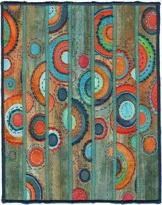Patina, contemporary abstract textile by Kirsten Chursinoff, via Flickr