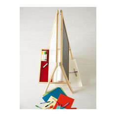 Kids' Easels - Ikea MALA 50021076 Easel SoftWood White Length 17 Inch Width 24 Inch Height 46 Inch * To view further for this item, visit the image link.