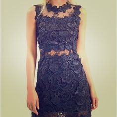 Topshop Lace Sleeveless Skater Dress Super cute and sexy dress! Topshop Dresses Mini