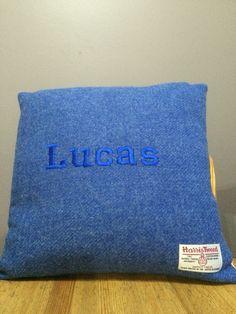 Harris tweed cushion with Peter Rabbit backing