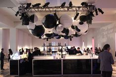 At the Whitney Museum of American Art's annual Art Party in New York, producers MKG hung black and white lanterns...New and unique bar ideas for your wedding or special event. Posted by Premiere Party Central, Tents and Event Rentals in Austin, Texas (TX).    http://www.PremierePartyCentral.com