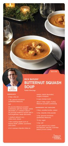 Macy's Culinary Council Chef Rick Bayless' Butternut Squash Soup