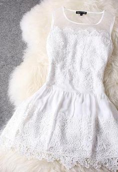 NICE LACE HANDMADE CUTE DRESS -DM