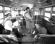 Bus passengers 39th Avenue at Knott Street January 22, 1948 Portland, Oregon