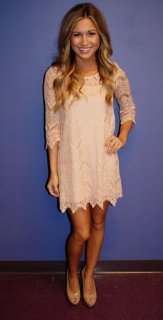 Pretty in Lace Pink | Impressions Online Women's Clothing Boutique