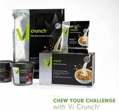 NEW NEW NEW VI CRUNCH Perfect for those who want to have something to eat for Breakfast and a Vi Shake for lunch check it out!! www.meghansperrazza.bodybyvi.com