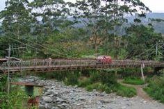 Old bridge over river in Cachi-Cachi, Cartago