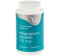 YA MAGNESIUMSITRAATTI 125 MG PURUTABL 120 KPL Drink Bottles, Vitamins, Shampoo, Water Bottle, Personal Care, Drinks, Shopping, Drinking, Self Care