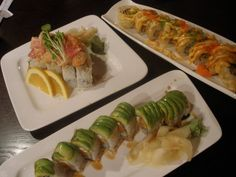 I love 'I Love Sushi' in Santa Cruz!!! I ate there the first day they opened & fell in love. They give you so many free appetizers! <3 the red dragon roll, tempura, and their massive soups!