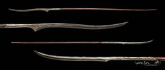 Aeglos on top and a Noldor elven spear on the bottom