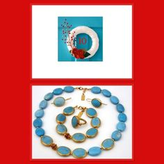 Gorgeous turquoise and gold jewellery
