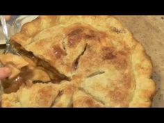 100 Yr Old Pie Crust Recipe & Demo - YouTube  She used lard this time but she stated that vegetable shortening, flour, salt, baking powder and ice water.  Refrigerate the cooking bowl & pie plates. Place dry ingredients in plastic bag and place in the freezer the night before you bake your pies.