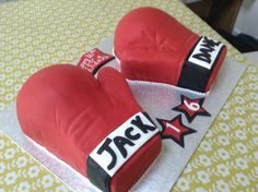 Boxing Gloves birthday cake made for my son's 16th birthday.