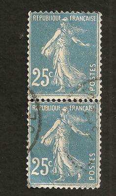 France Stamp - semeuse roulette
