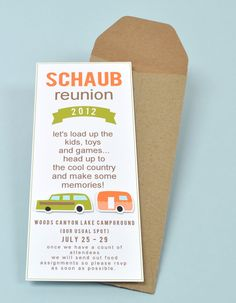 DIY Invitation -  create your own print/cut shapes